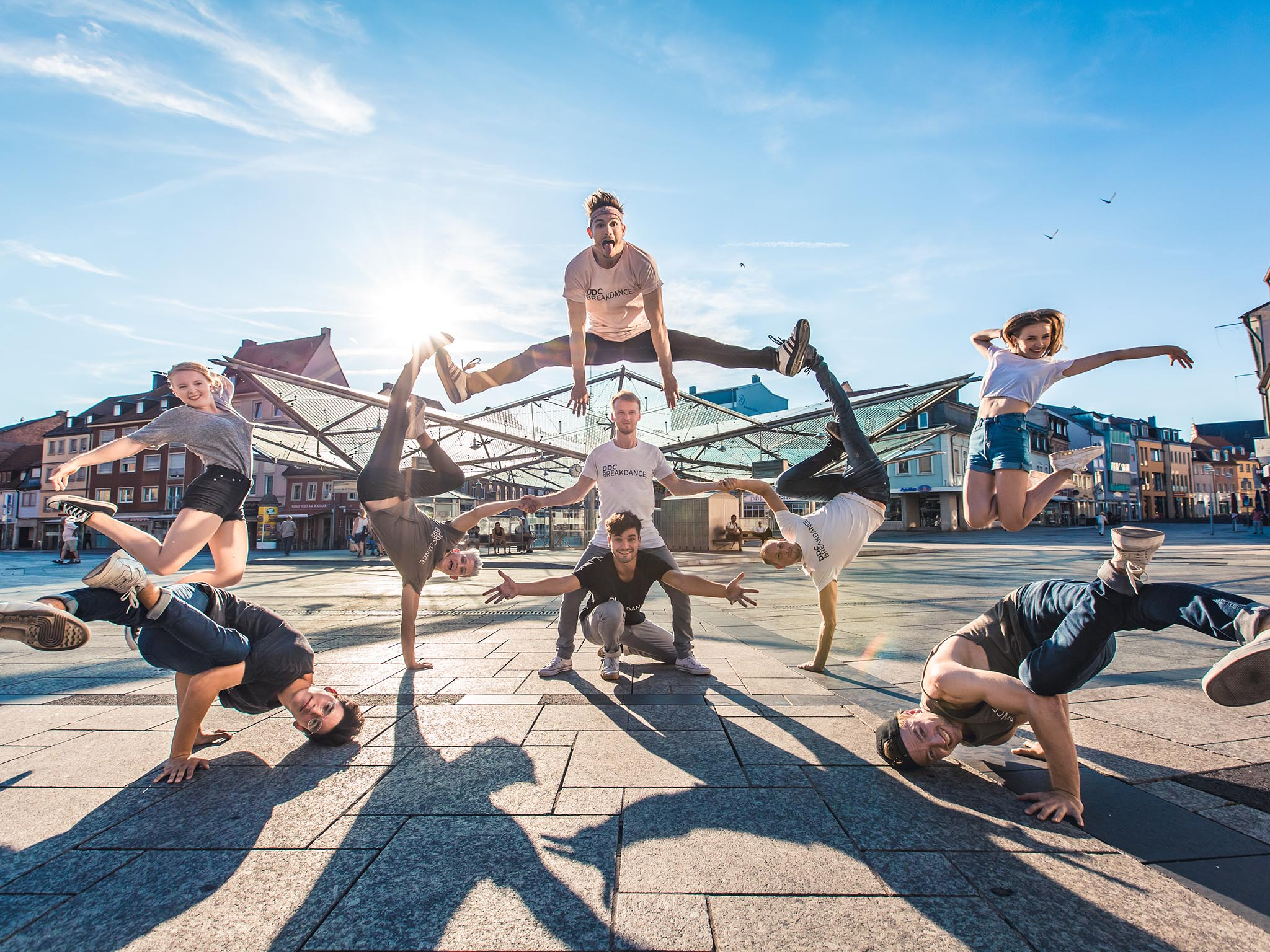 Schweinfurter Weltmeister - Die Breakdance Gruppe DDC. Foto: Raphael Götz, DDC.