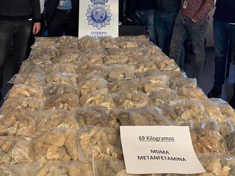 69 Kg MDMA-Kristalle wurden im Raum Madrid beschlagnahmt. Foto: Polizei