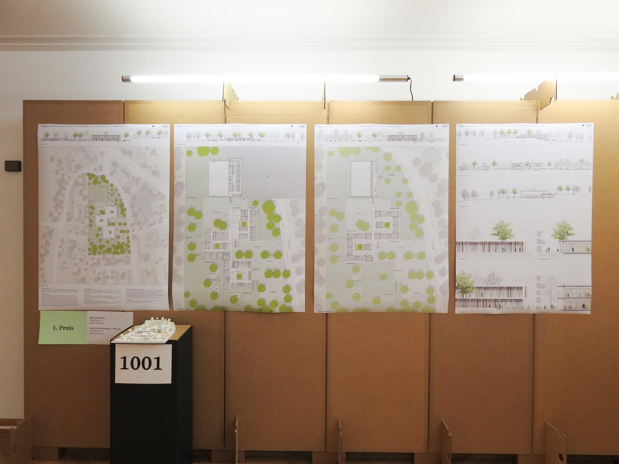 Gewinnerentwurf von SDKS Architekten aus Darmstadt. Foto: Dirk Flieger