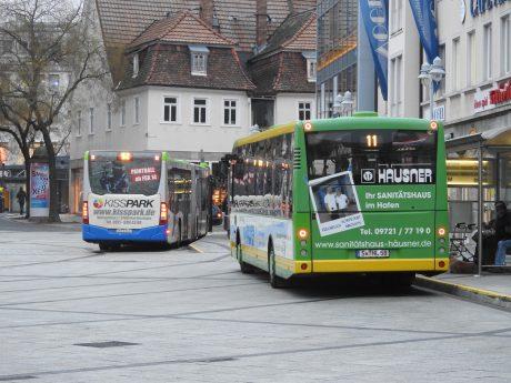 Stadtbusse in Schweinfurt. Foto: Dirk Flieger
