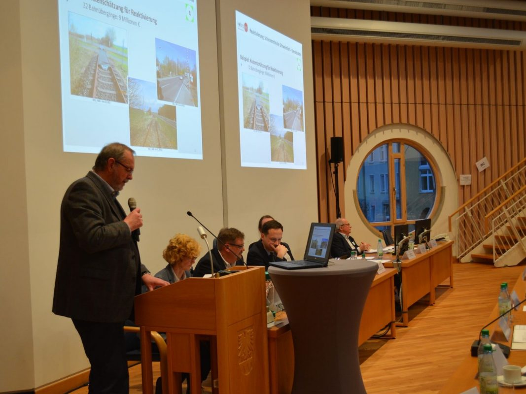 Konferenz zur Reaktivierung der Steigerwaldbahn. Foto: Landratsamt Schweinfurt, Uta Baumann