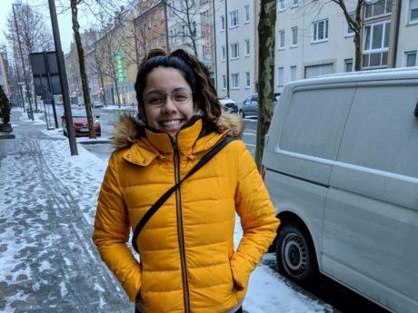 Carolina Torres aus Mexiko fühlt sich in Schweinfurt wohl. Foto: Carolina Torres
