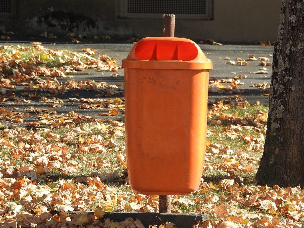 Symbolbild Mülleimer aus Kunststoff. Foto: Dirk Flieger