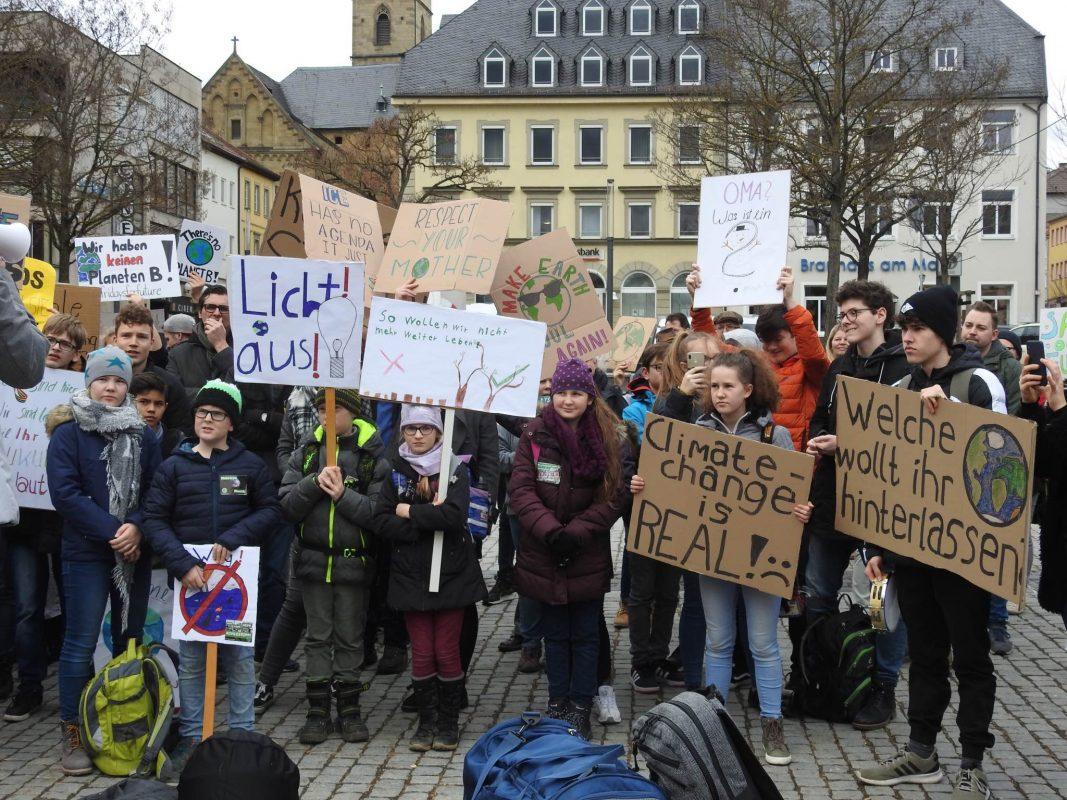 Am 22. Februar wurde in Schweinfurt gegen die Klimapolitik gestreikt. Foto: Dirk Flieger.