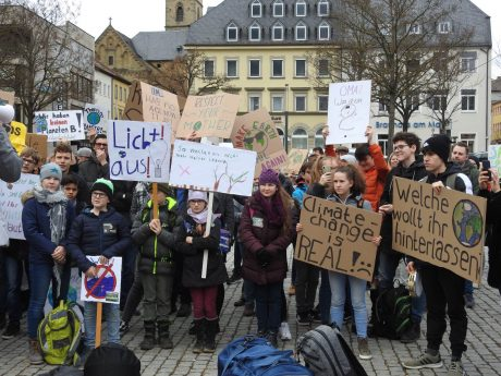 Fridays for Future - Demo in Schweinfurt. Foto: Dirk Flieger.
