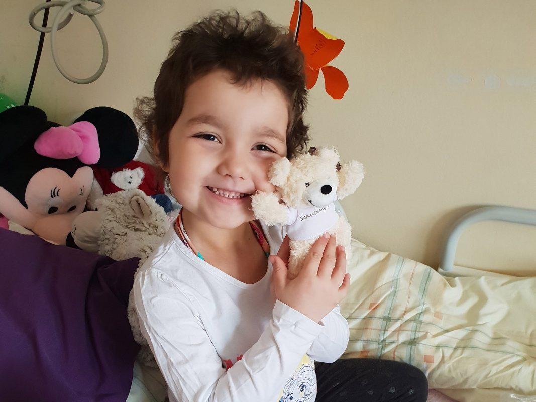 Die kleine Melina aus Marksteinach hat Blutkrebs. Foto: Ursula Huber.