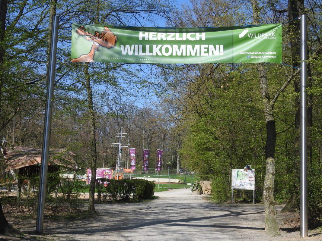 Eingang zum Wildpark an den Eichen. Foto: Dirk Flieger