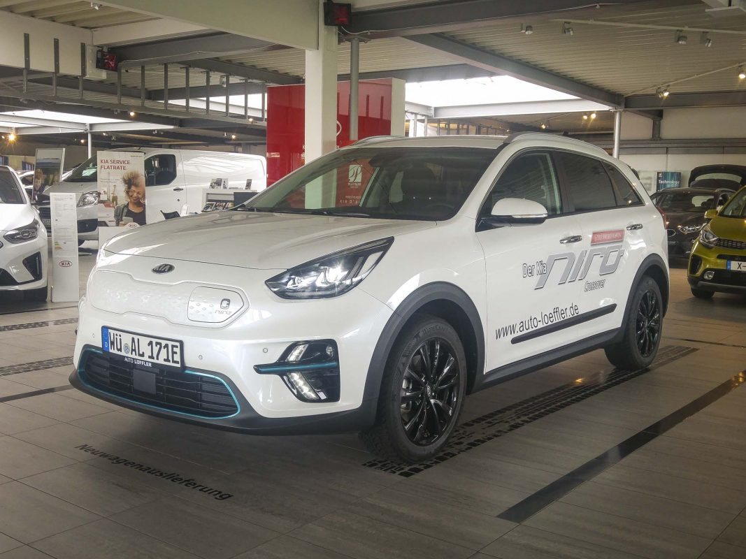 Der neue Kia e-Niro beim Autohaus Löffler. Foto: Dominik Ziegler