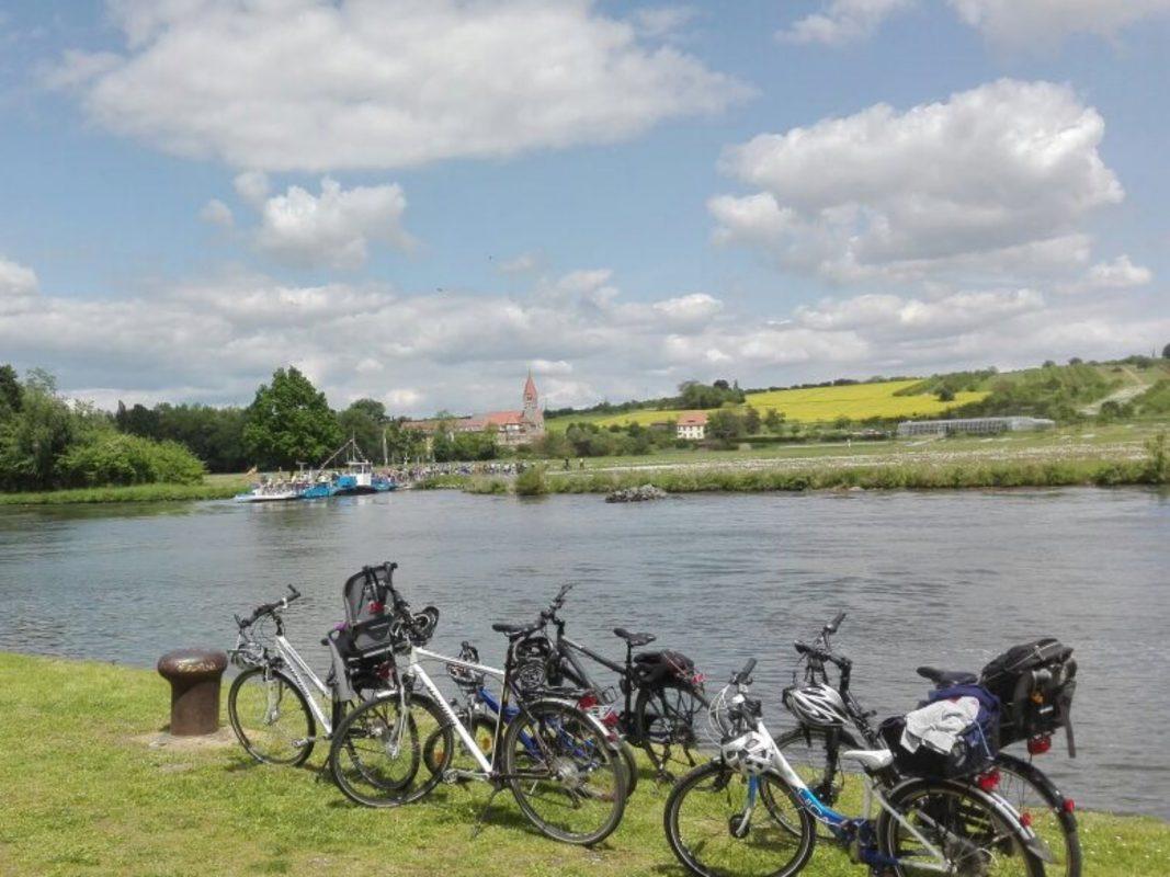 Mit Fahrrädern am autofreien Sonntag unterwegs. Foto: Tourist-Information Schweinfurt 360°