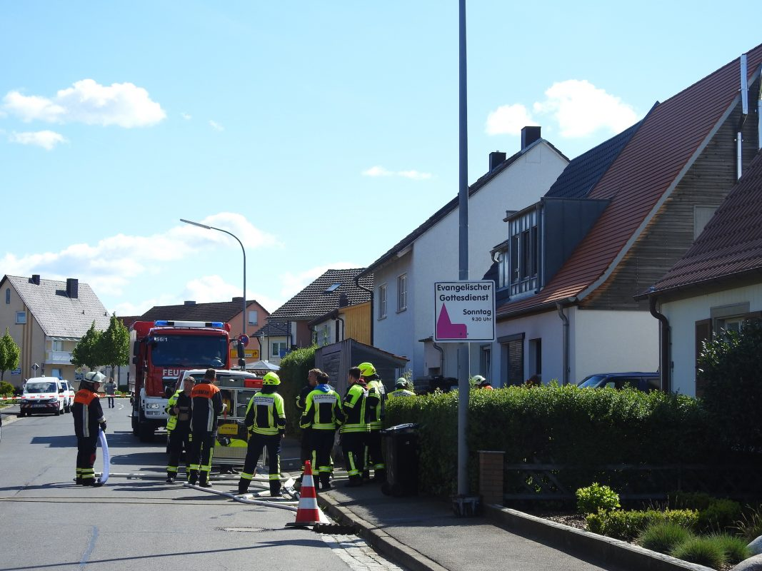 In Bergrheinfeld wurden zwei Leichen aufgefunden. Foto: Dirk Flieger
