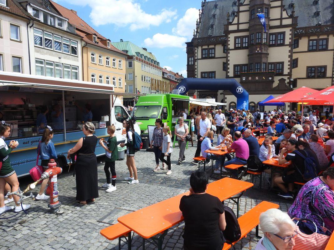 Die Innenstadt beim Landesturnfest in Schweinfurt. Foto: Dirk Flieger