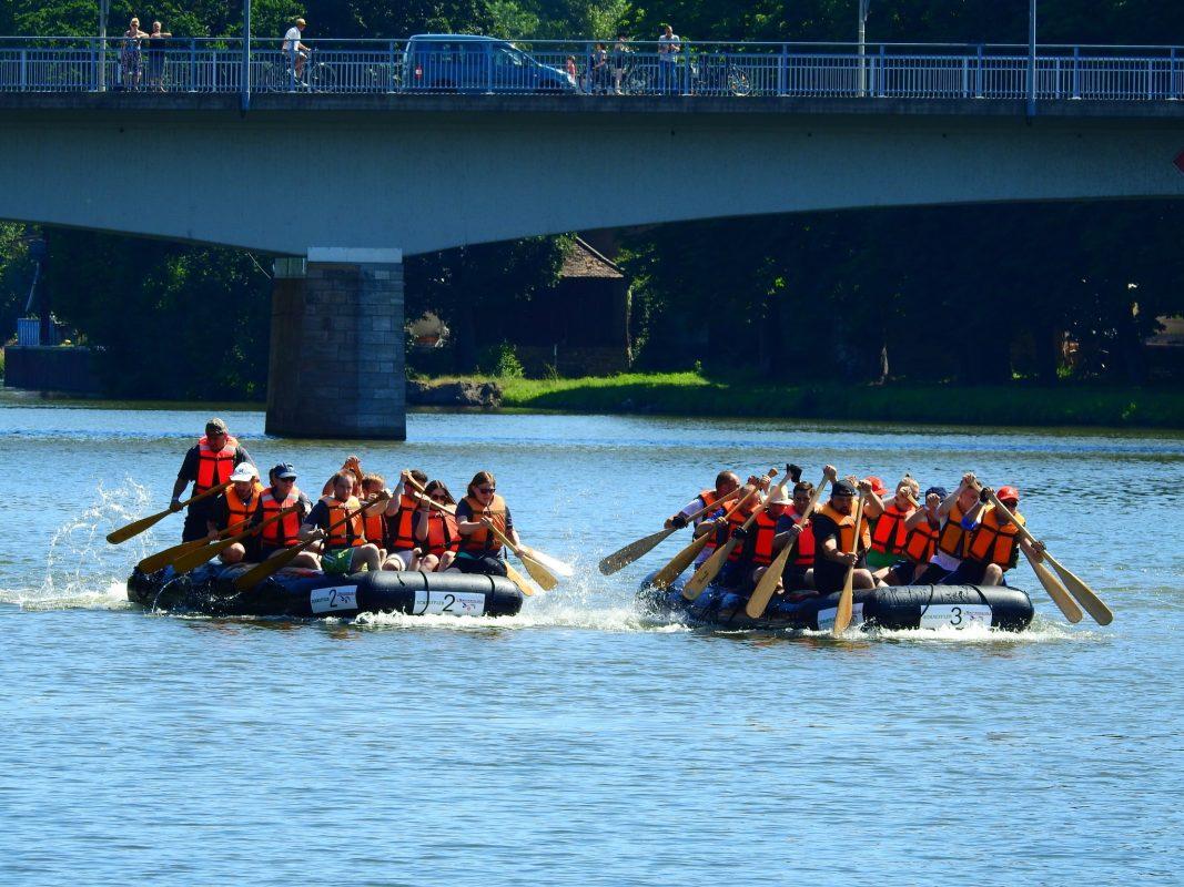 Das Rotarian Rowdy River Raft Race. Foto: Dirk Flieger