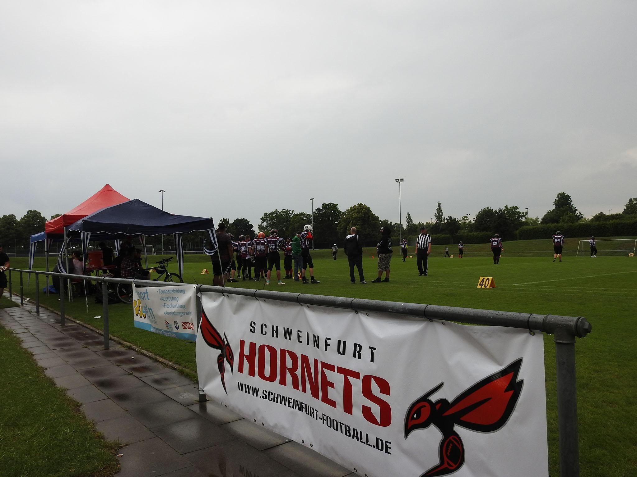 Seit Anfang des Jahres gibt es einen neuen Football Verein in Schweinfurt: die Hornets. Foto: Dirk Flieger.