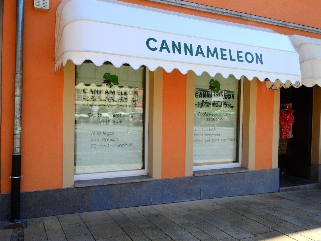 Der Cannameleon Shop am Marktplatz in Schweinfurt. Foto: Dirk Flieger