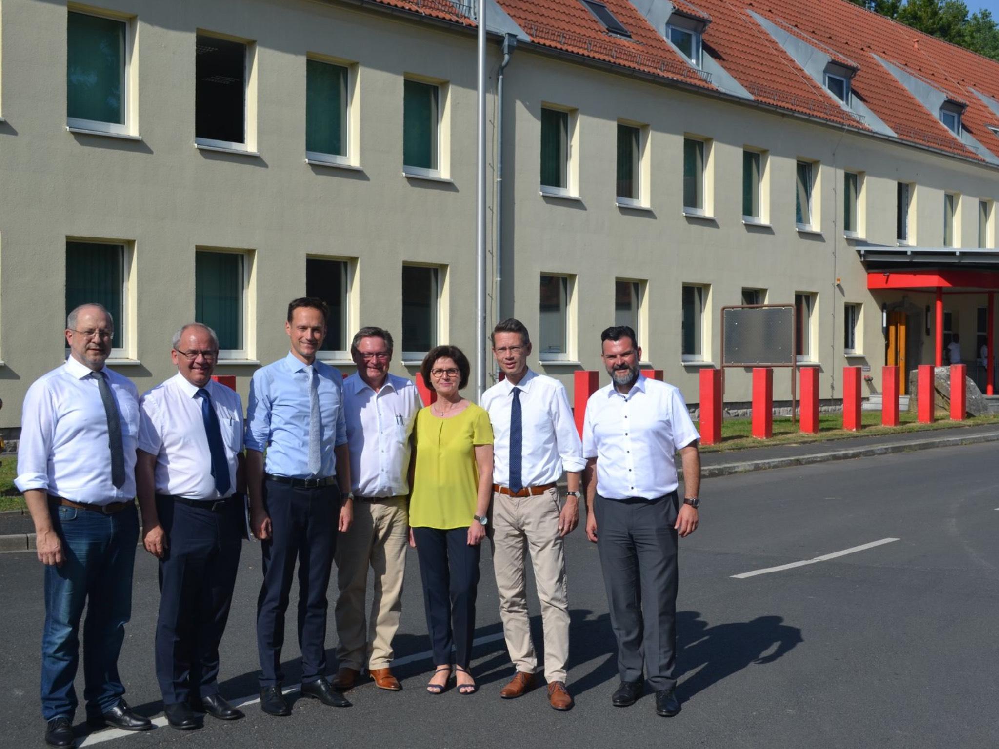 Vor-Ort-Termin in den Conn Barracks. Foto: ZV Conn Barracks, Tobias Blesch