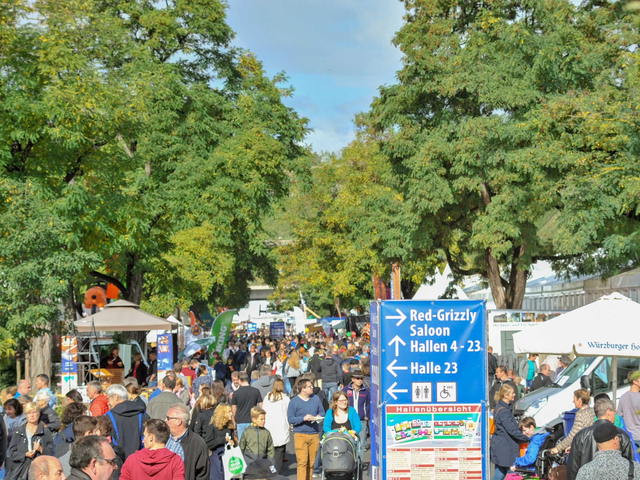 23 Messehallen und rund 650 Aussteller: Die Würzburger Mainfranken-Messe. Foto: Mainfranken-Messe