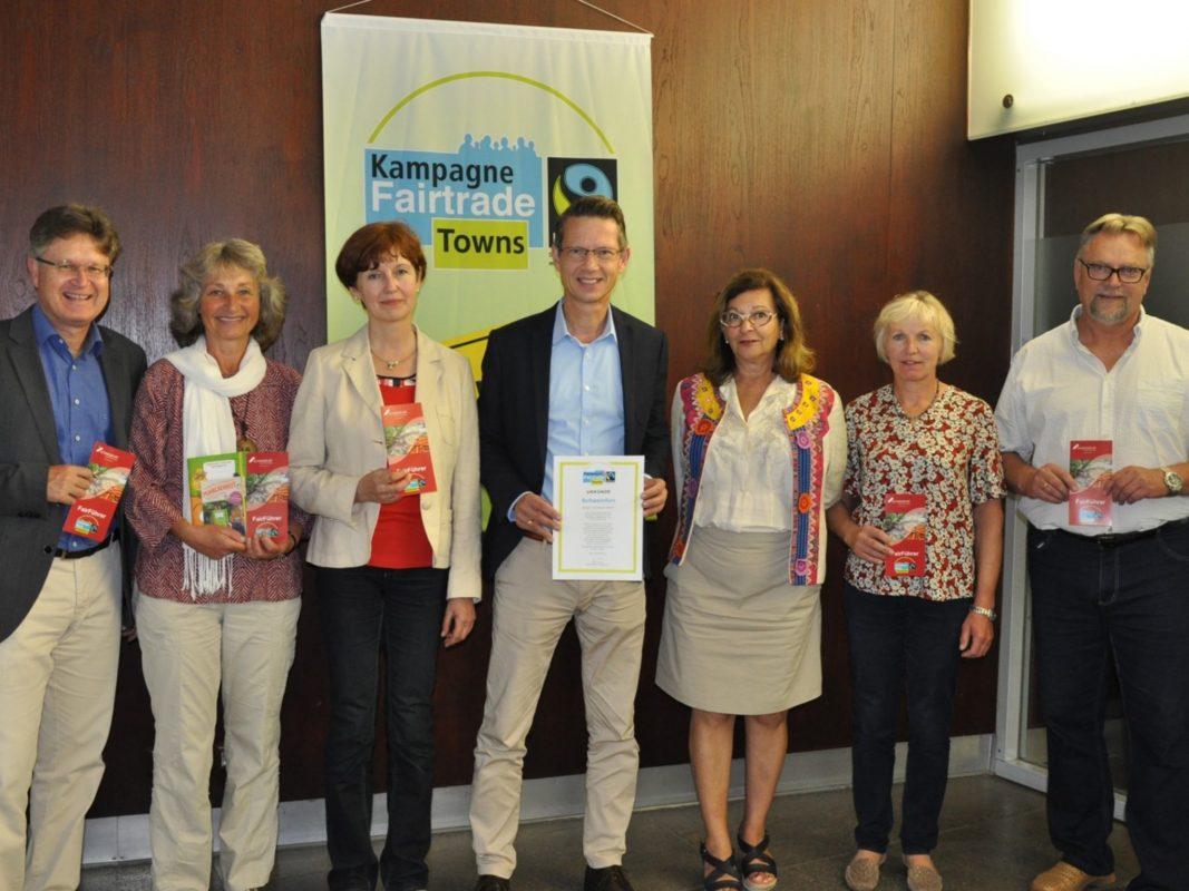 itelerneuerung: Schweinfurt ist weiterhin Fairtrade-Stadt. Foto: Marina Euler, Stadt Schweinfurt