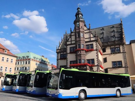 Neue Busse für die Stadt Schweinfurt. Foto: Hannah Schesink/Stadtwerke Schweinfurt GmbH