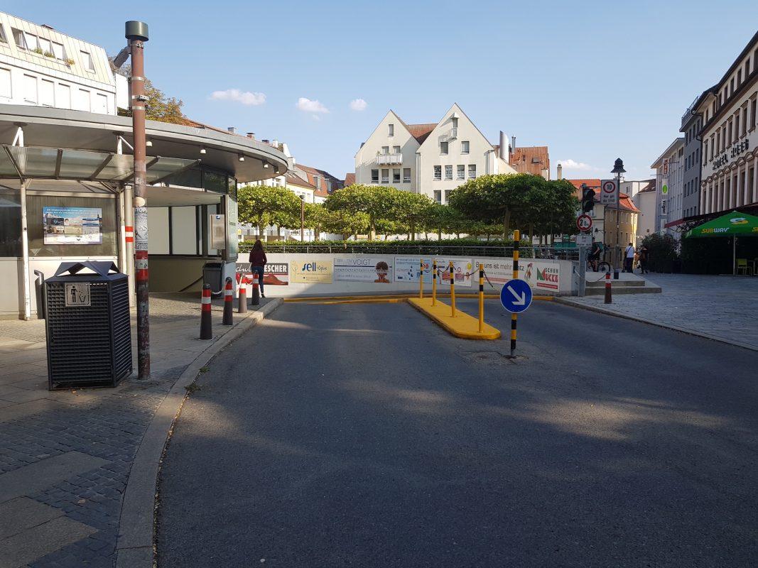 Tiefgarage am Georg-Wichtermann-Platz. Foto: Dirk Flieger
