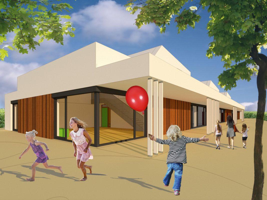Im Herbst 2020 soll der integrative Kindergarten in der Gartenstadt fertig sein. Grafik: Peter Friedrich, RWP Architekten Schweinfurt