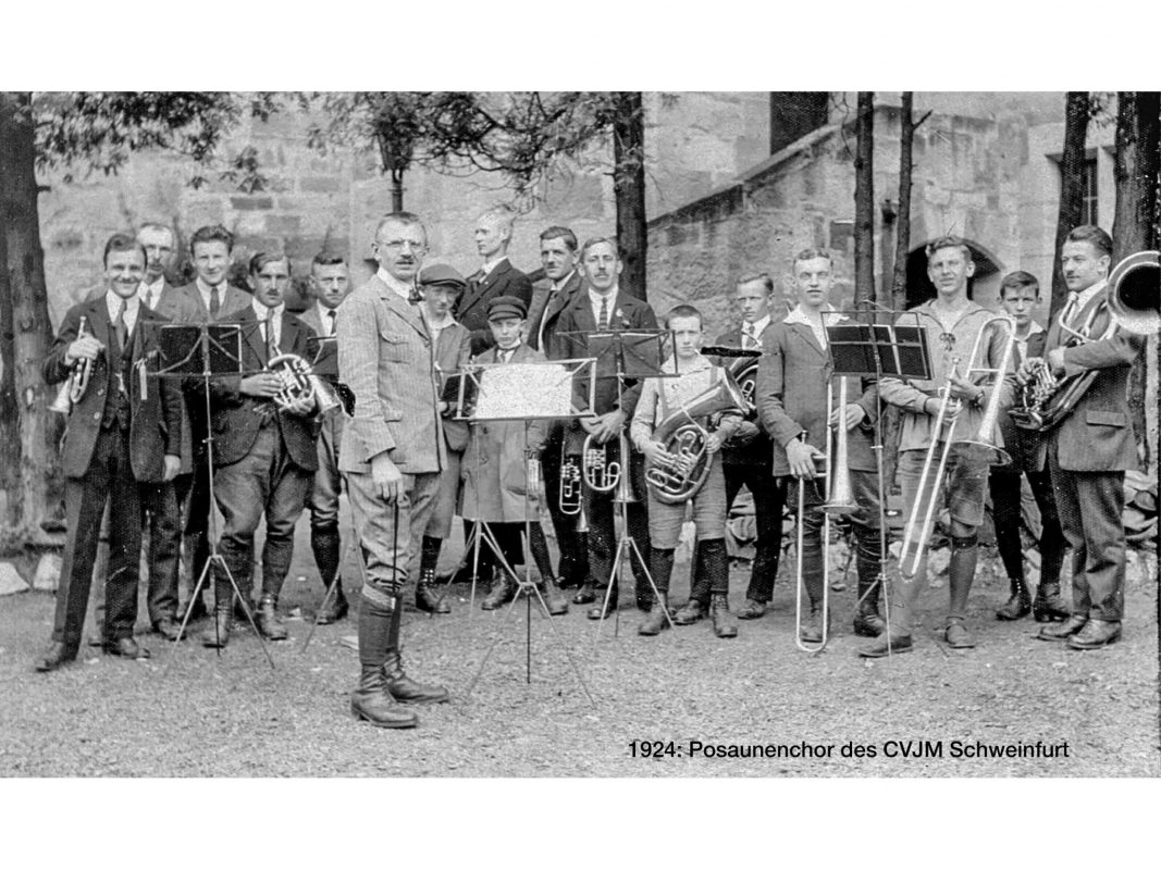 Posaunenchor 1924. Archiv: CVJM Schweinfurt