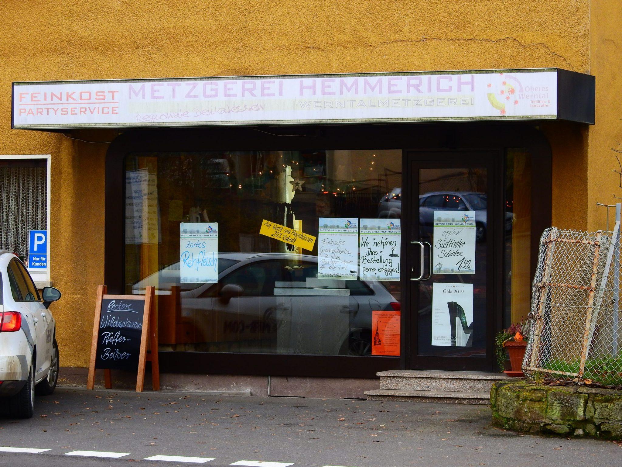 Die Metzgerei Hemmerich wird in der Deutschhöferstraße schließen. Foto: Dirk Flieger