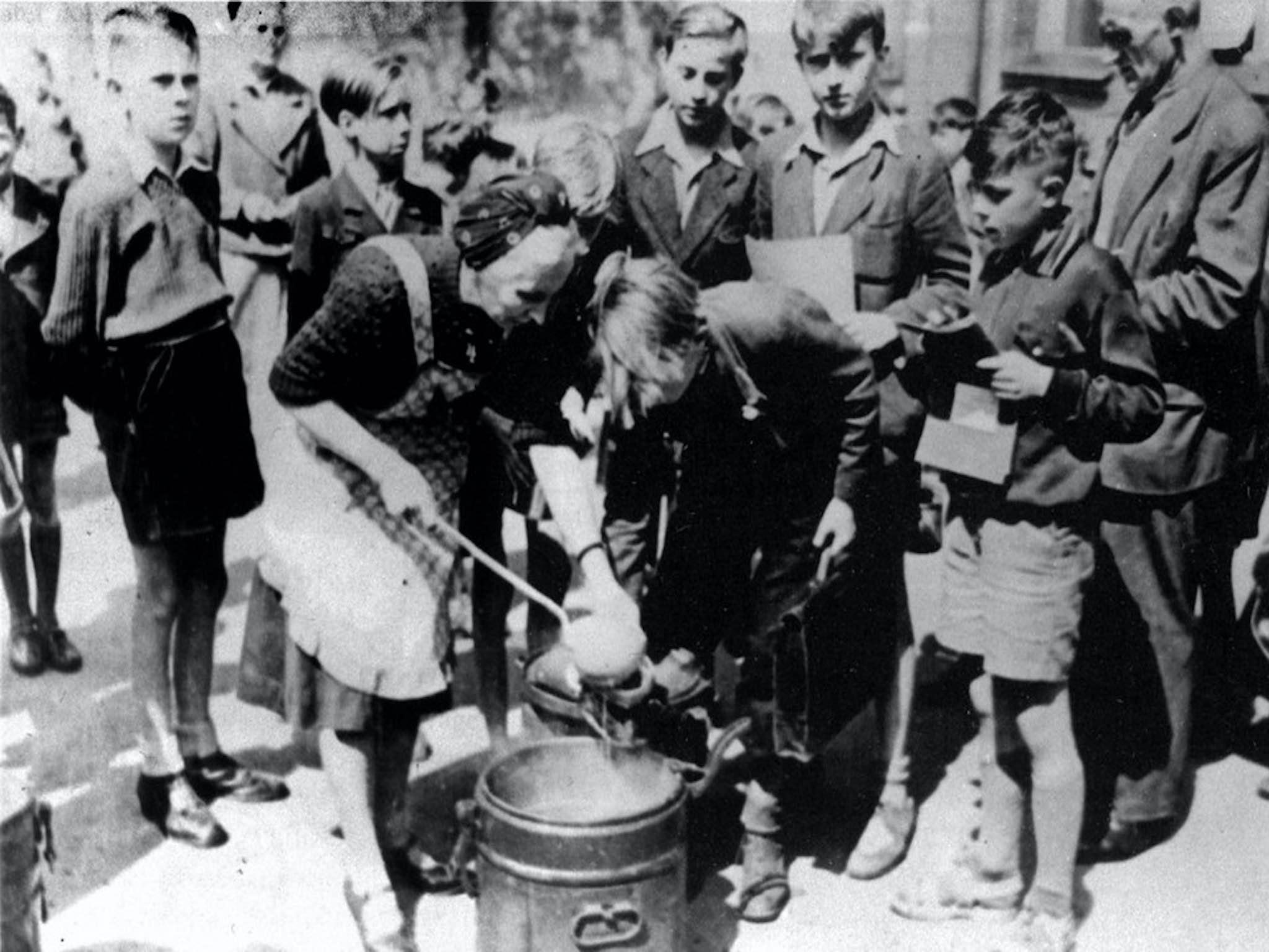 AWO Suppenküche während des Krieges. Foto: Archiv AWO Unterfranken