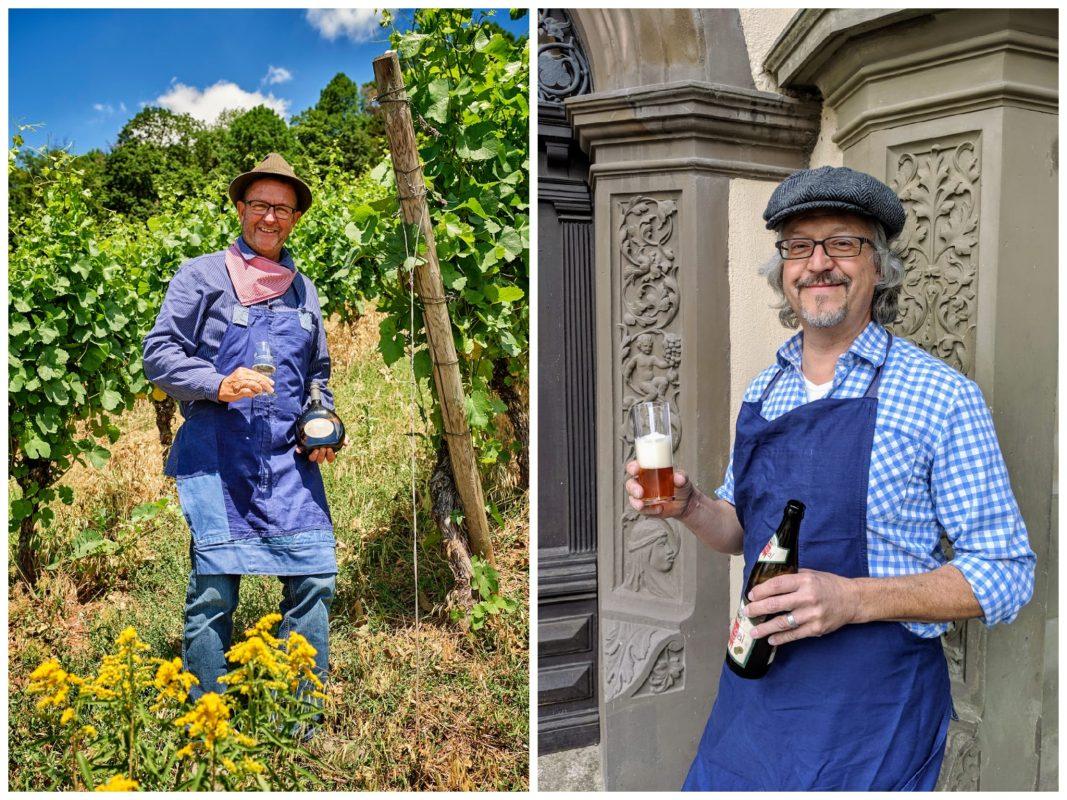 Links der Winzerjunge, rechts ist der Biermichl zu sehen. Foto: Tourist-Information Schweinfurt 360°-Florian Trykowski; Jessica Leicher