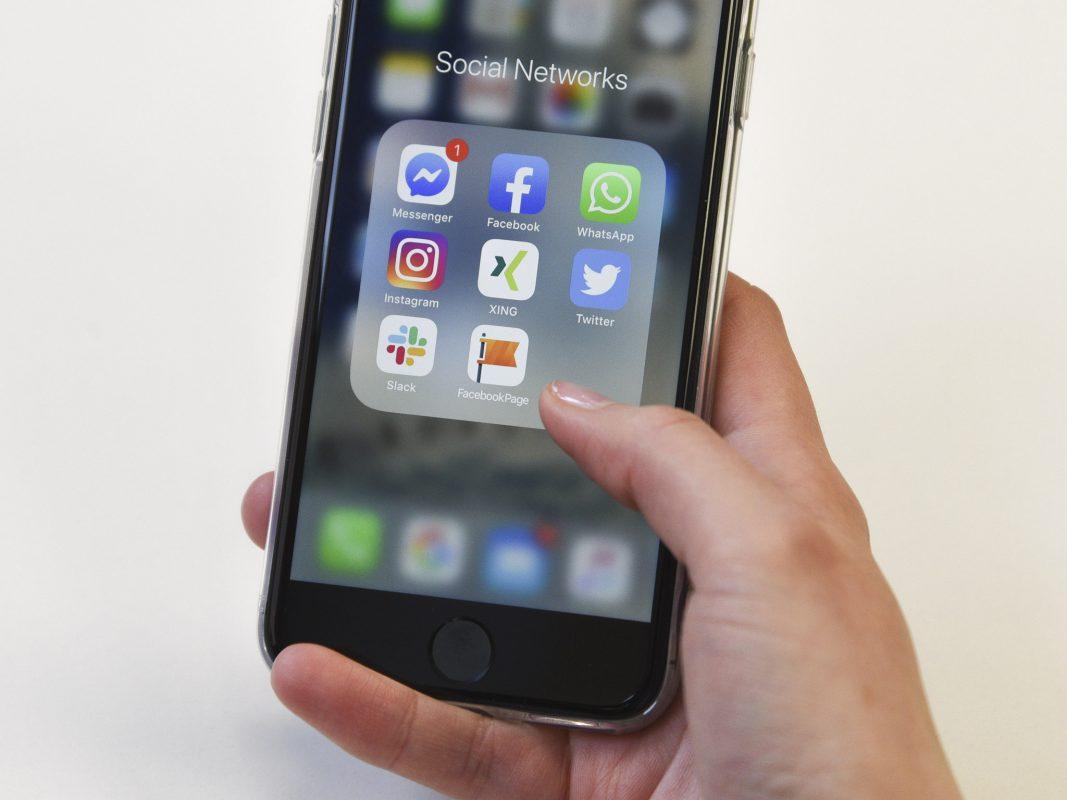 Social Network Apps auf dem Smartphone. Symbolfoto: Dominik Ziegler