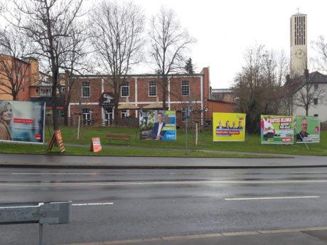Wahlplakate zur Kommunalwahl 2020. Foto: Dirk Flieger