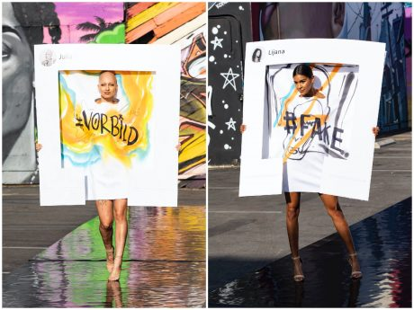 Germany´s next Topmodel - by Heidi Klum- Julia F. (links) bei ihrem Walk. Copyright: ProSieben/Sven Doornkaat; Fotograf: Sven Doornkaat; Bildredakteur: Susanne Karl-Metzger.
