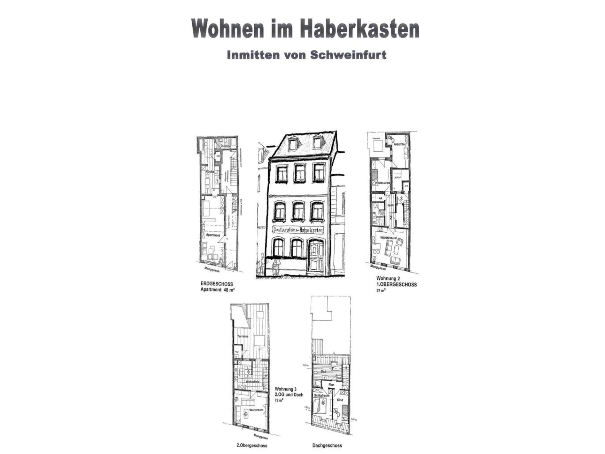 Im Haberkasten gibt es jetzt drei Wohnungen. Grafik: Brauerei Roth
