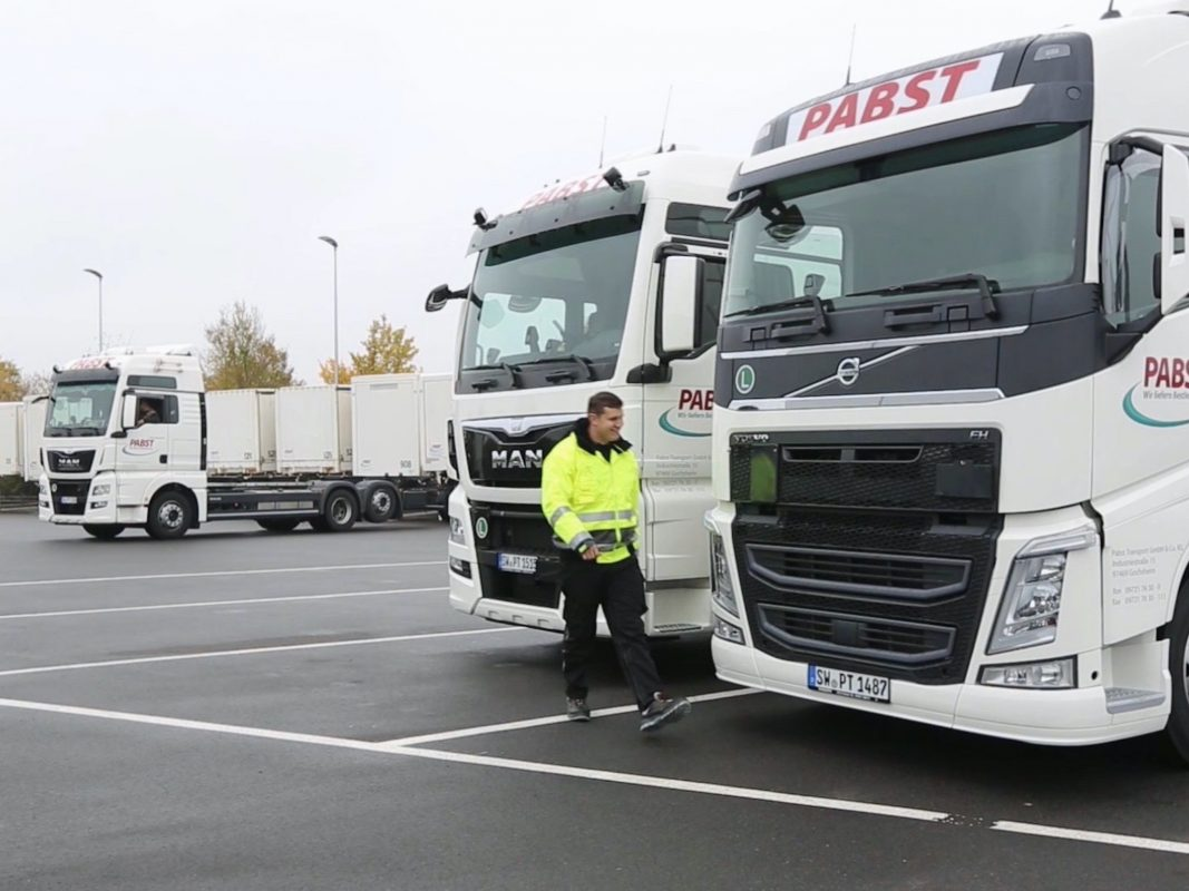 Die LKW-Flotte bei Pabst Transport. Foto: Andreas Wagner/ Pabst Transport