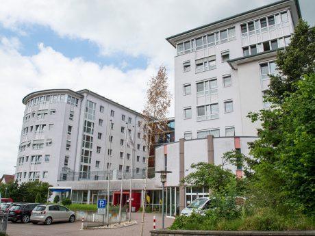 Außenansicht des Kreisalten- und Pflegeheims Werneck. Foto: Anand Anders