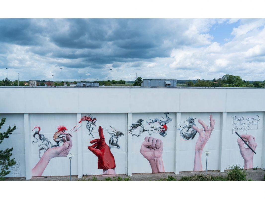 Die DDC Factory mit Mural Painting.