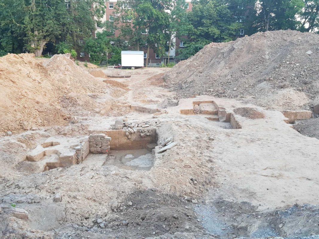 In Schweinfurt wurden beim Bau eines Parkhauses Siedlungsreste gefunden. Foto: Dirk Flieger
