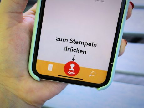 """Die App """"Stämps"""". Foto: Jessica Hänse"""