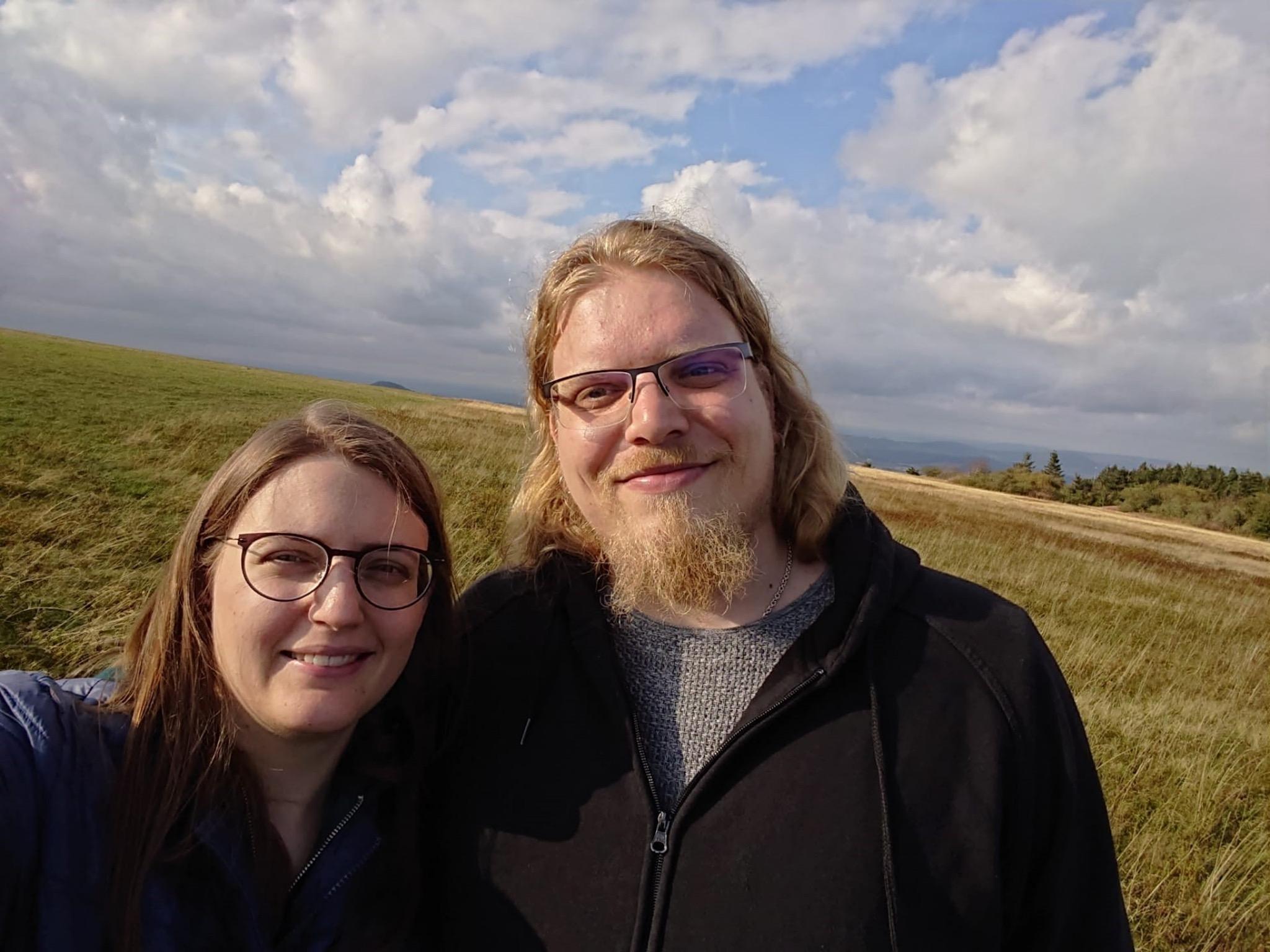 Julian ganz privat mit seiner Frau. Foto: Julian Rossdeutsch