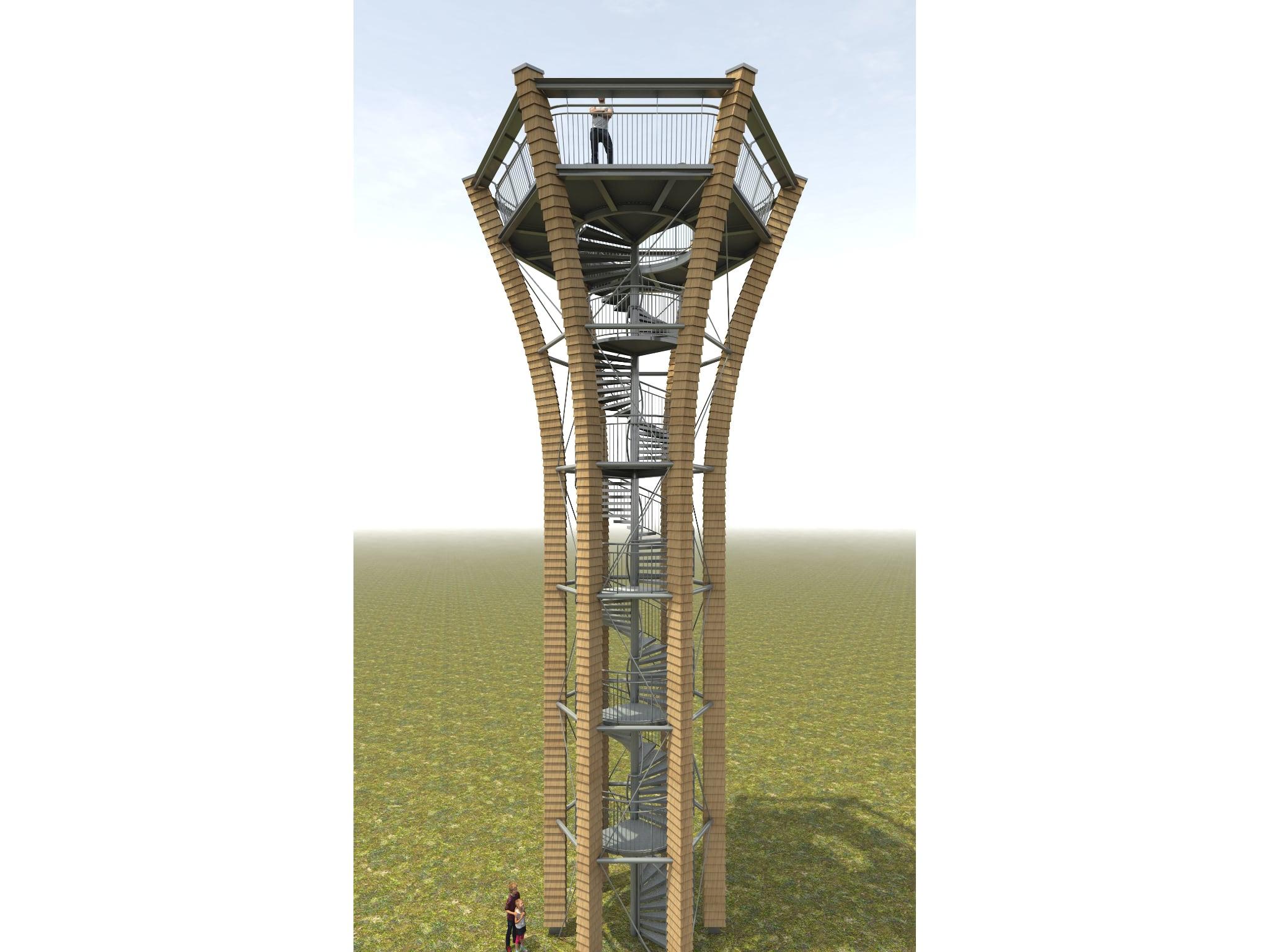 Die Visualisierung zeigt, wie der neue Turm aussehen wird. Foto: Architekt Johannes-Ulrich Blecke