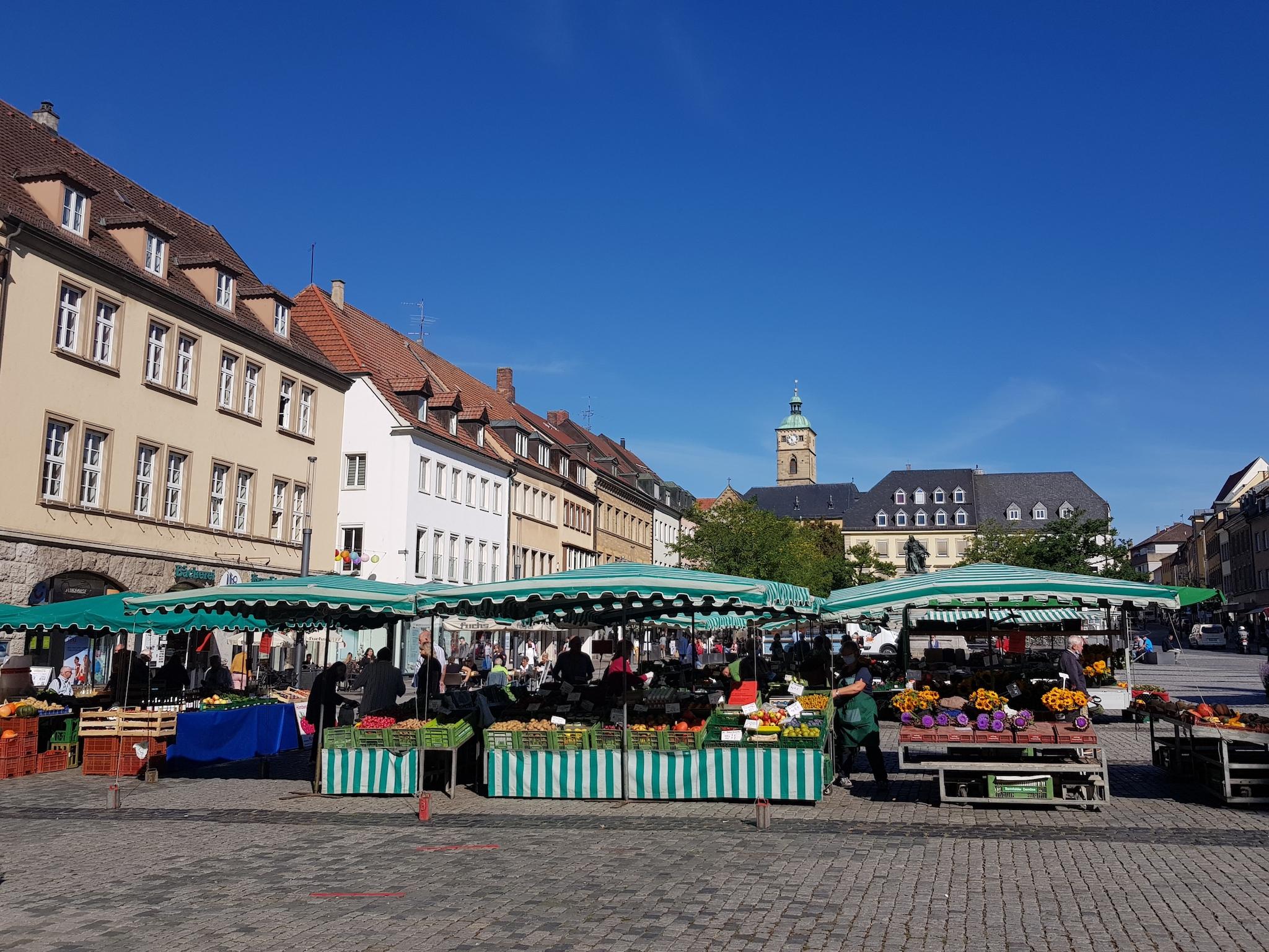 Wochenmarkt in Schweinfurt. Foto: Dirk Flieger