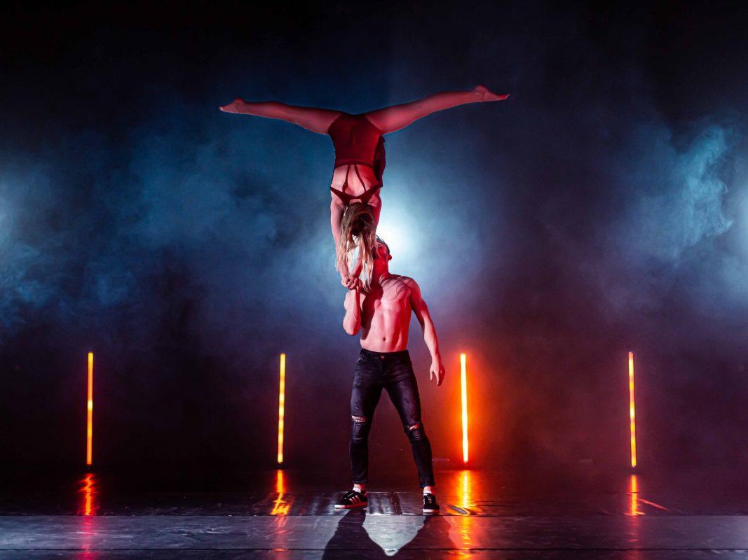 """Als Akrobatik """"Duo in Motion"""" sind Kira und Michi beim Supertalent aufgetreten. Foto: Raphael Götz / DDC Entertainment"""