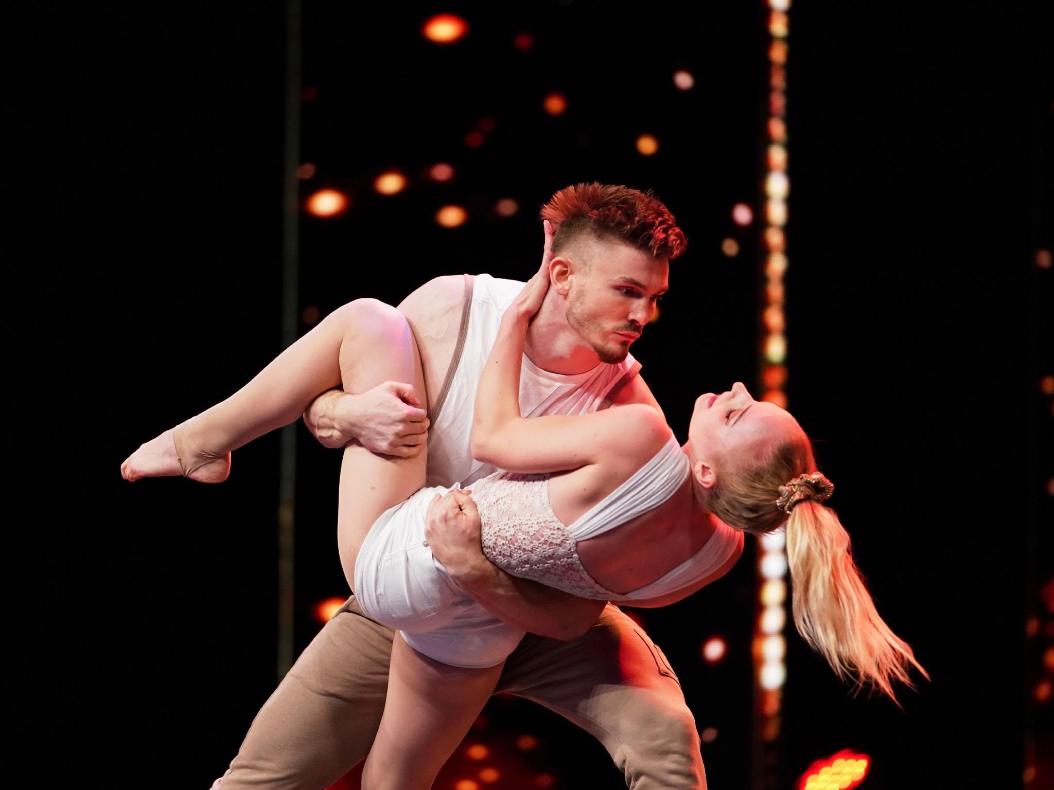 Kira und Michi haben auf der Supertalent-Bühne alles gegeben. Foto: TVNOW / Stefan Gregorowius