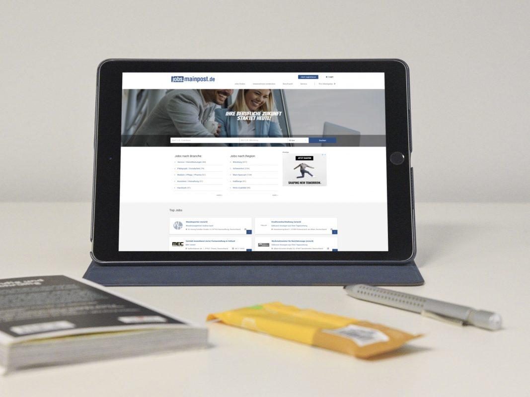 Das Jobportal der Main-Post jobs.mainpost.de glänzt in neuem Design und hält zahlreiche neue Funktionen bereit. Foto: Pascal Höfig