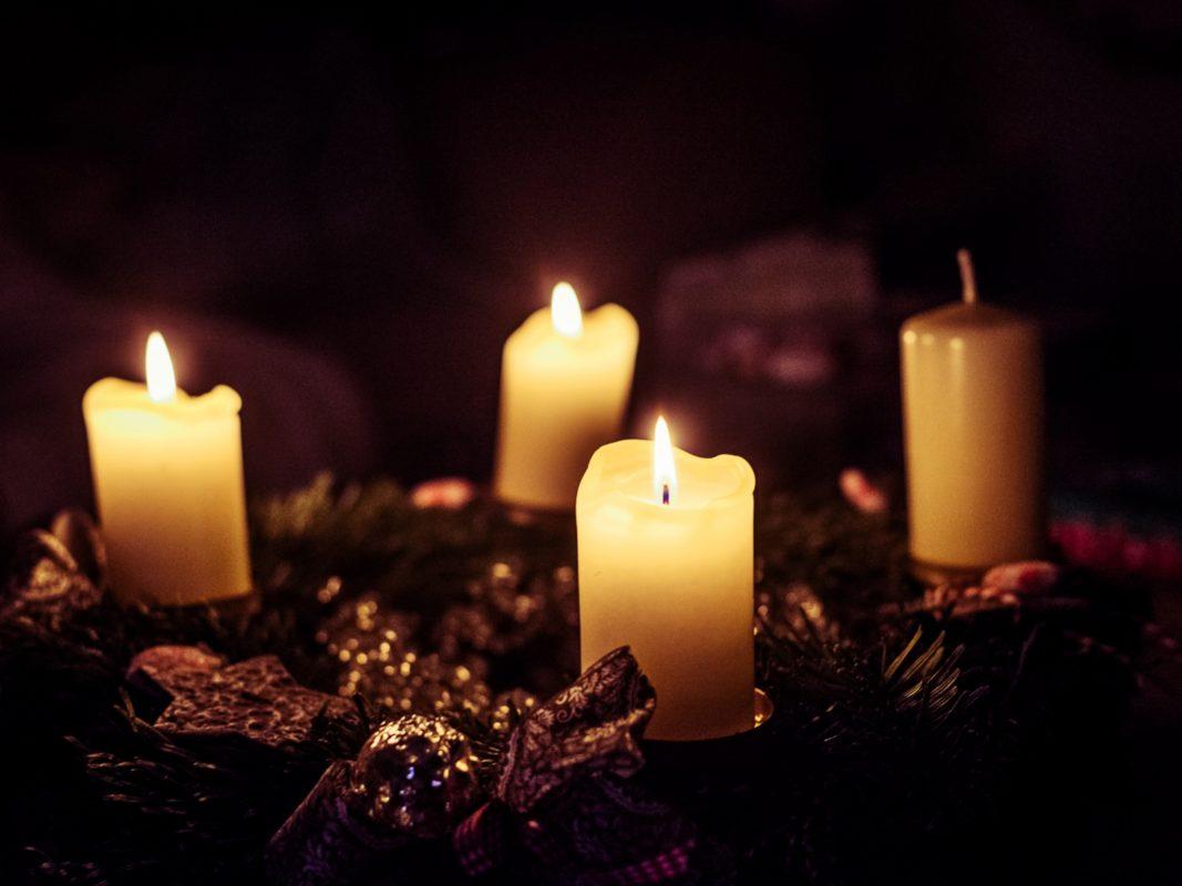 Adventskranz, Kerzen, Weihnachten