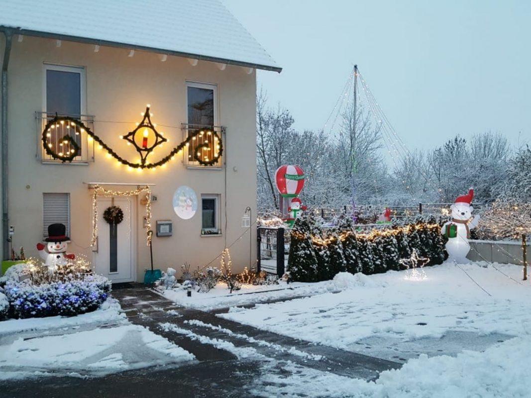 Das Weihnachtshaus von Andreas und seiner Familie. Foto: Andreas Krumm