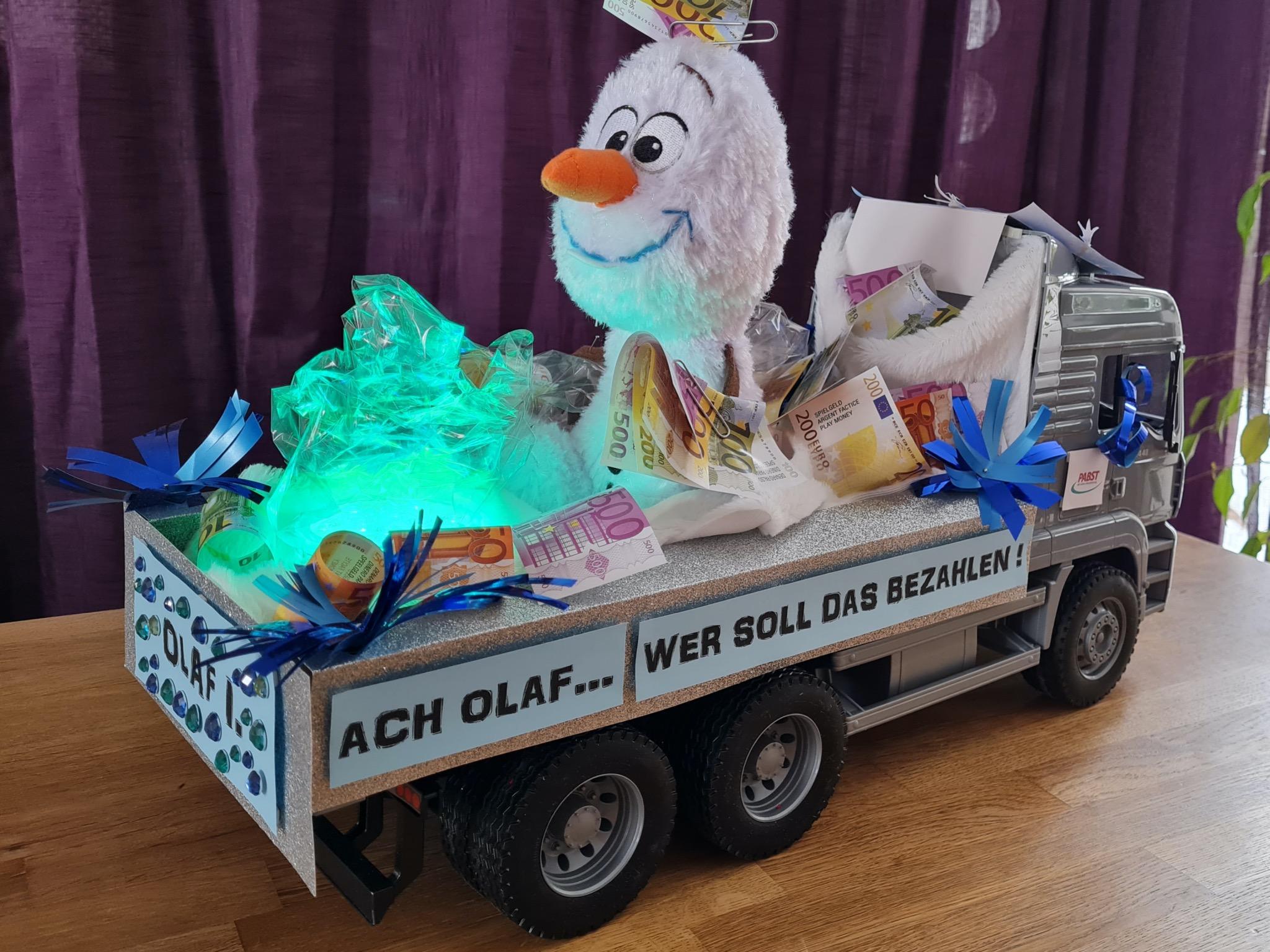 Schon 30 Anmeldungen gab es für den Miniatur-Faschingszug - u.a. wurde dieser Olaf-Wagen eingereicht. Foto: Maurice Breitkopf