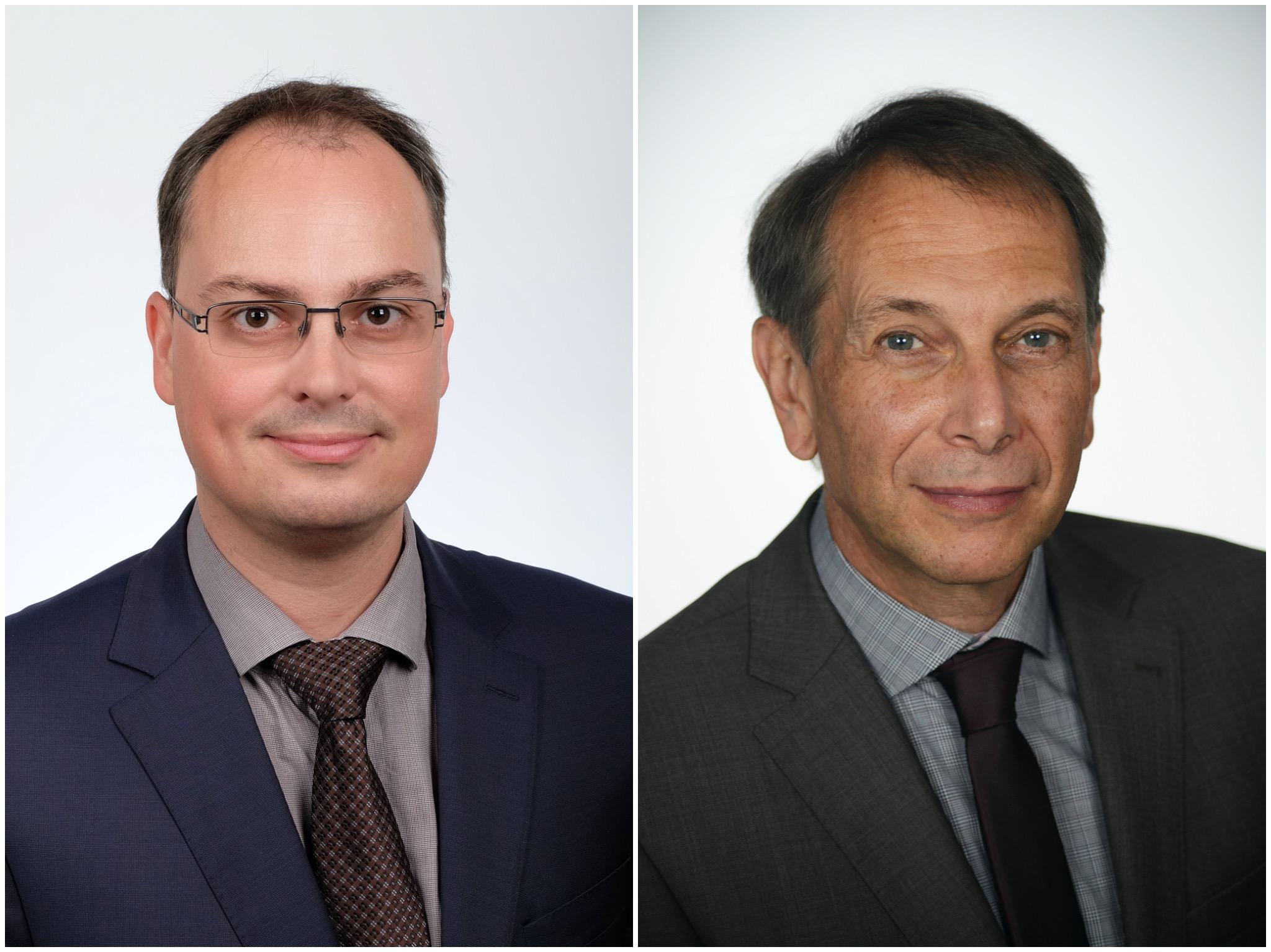 Dr. Gregor Simenc, Betriebsarzt SKF GmbH (links) und Harald Speck, Geschäftsführer und Arbeitsdirektor SKF GmbH. Fotos: SKF