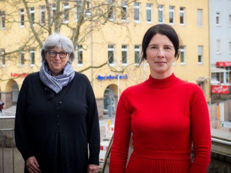 Gleichstellungsbeauftragte Ute Suckfüll (links) mit ihrer neuen Stellvertreterin Ute Schönbach. Foto: Anja Baumann/Landratsamt Schweinfurt
