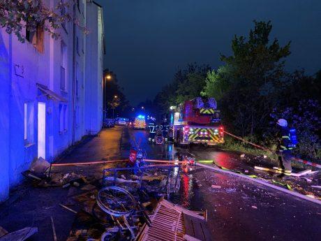 In der Euerbacher Straße kam es zu einem Brand. Foto: Michael Spath, SBM