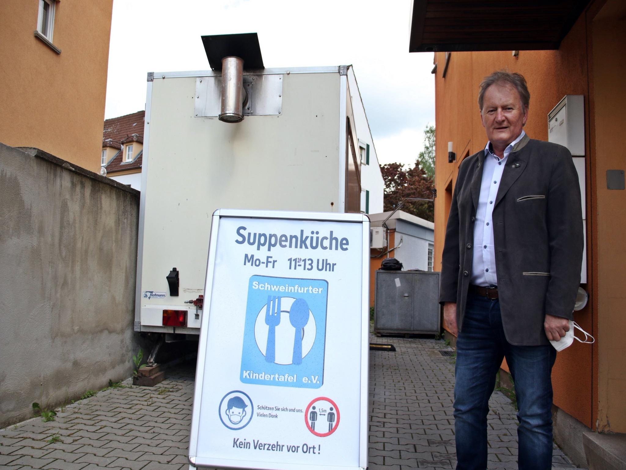 Vorsitzender Stefan Labus. Foto: Schweinfurter Kindertafel e.V.